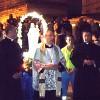Processione nel rione Venezia e benedizione del gozzo biancorosso