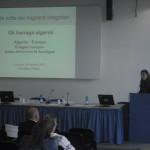 Arianna Obinu durante una presentazione del suo lubro
