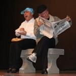 una scena dello spettacolo, a sx Franco Bocci