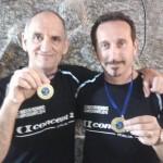 Vittorio Pasqui e Mauro Martelli con ...medaglia