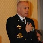 Il Comandante Giuseppe Cavo Dragone durante la conferenza