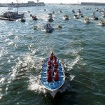 le barche in gara