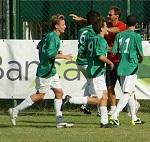 la gioia dopo il gol di Domeichini