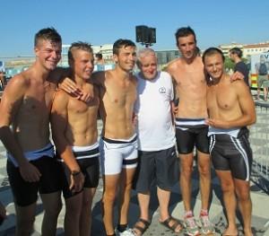 I ragazzi del Minipalio e Paolo Cantini ( foto gianpi)