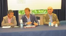 da sx: Paolo Corrieri, Salvatore Sanzo, Nicola Perullo ( foto gianpi)