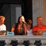 Il sorteggio...da dx: massimo Fastame, Stella Sorgente , Riccardo De Martino