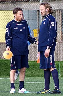 Fabio Antonini e Matteo Niccolai a fine partita...