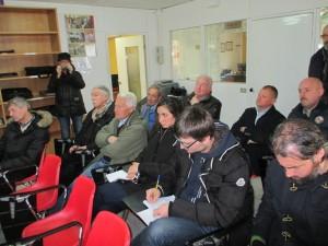 la sala con i giornalisti