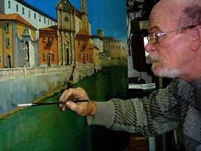 Giancarlo Landi... dipinge