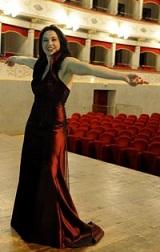 Maria Luigia Borsi sul palco del Goldoni