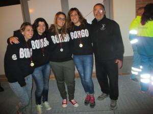 """le """"bimbe"""" del Borgo con il mister Biagini ( foto gianpi)"""